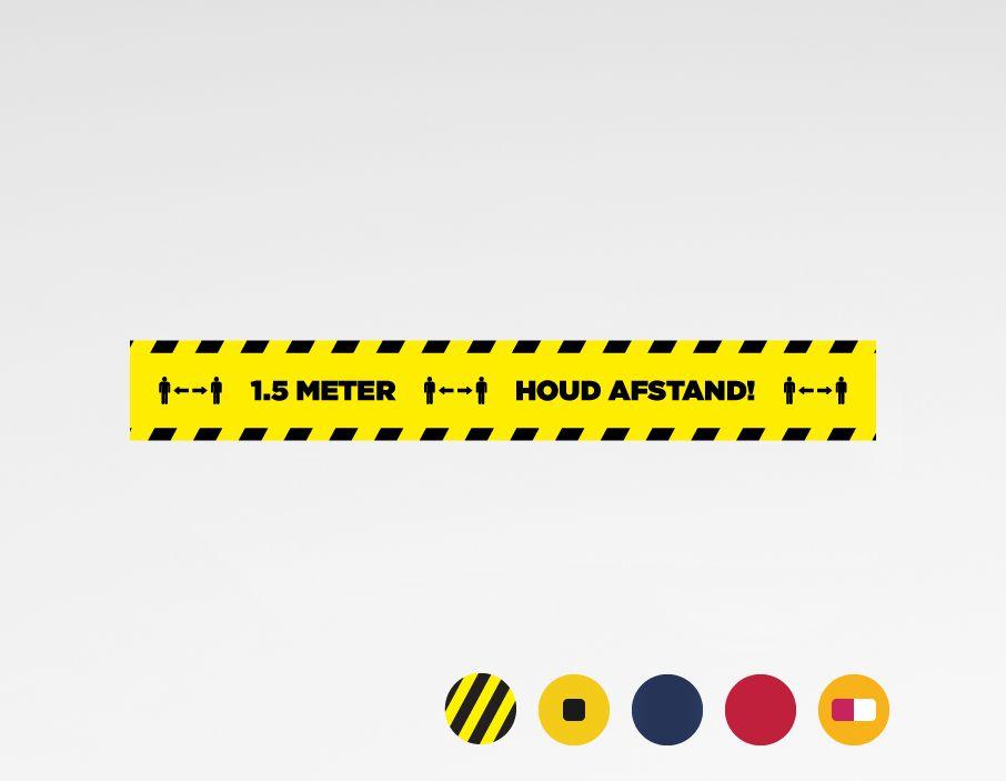 Houd 1.5 meter afstand sticker 150x20cm