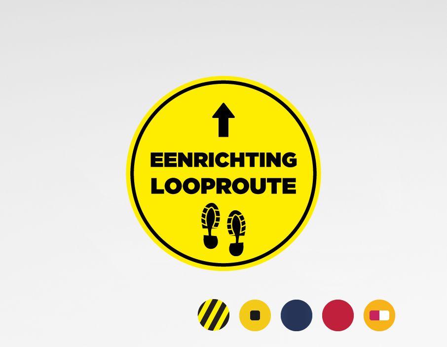 Volg route (rond) sticker ⌀40cm