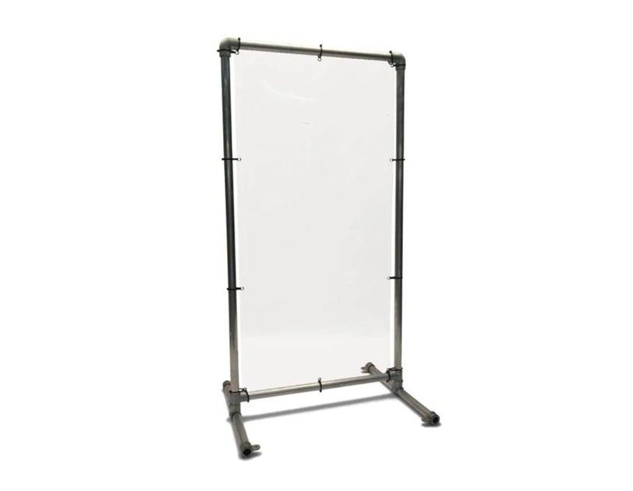 Afscheidingsscherm - Transparant - 125 cm