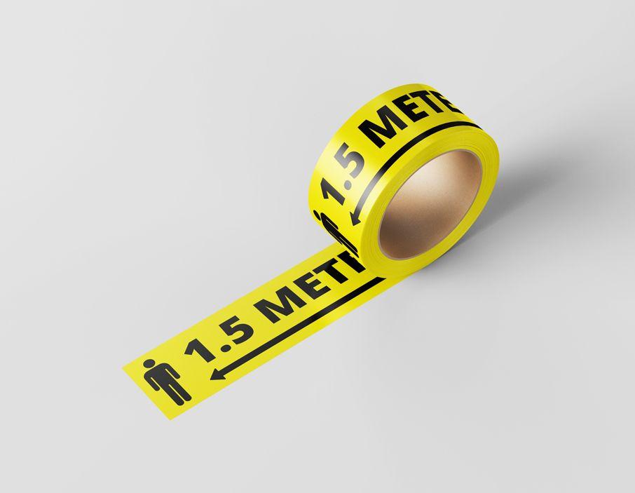 Afzetlint - 1.5 meter afstand - 100m x 7,5cm