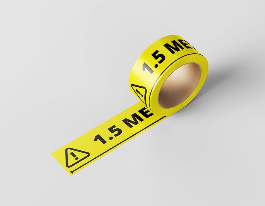 Vloertape - 1.5 meter afstand houden 660 x 5 cm